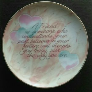 Friendship Plaque / Plate Wall Hanging love